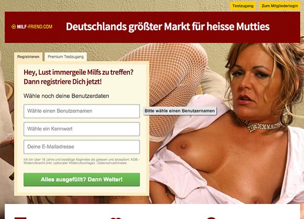 MILF-Friend.com: Die Startseite des Sexportals
