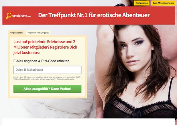 Sexkiste.com - die Startseite des Sexportals