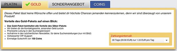 Kosten & Funktionen der Premium-Mitgliedschaften auf Date4Sex.com
