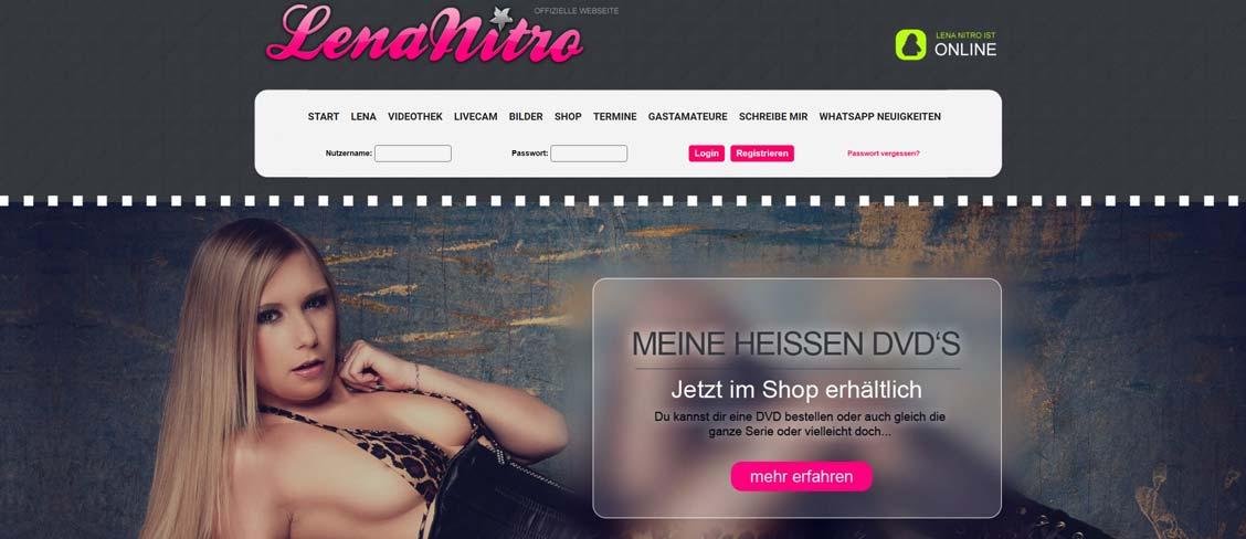 Lena Nitro Homepage
