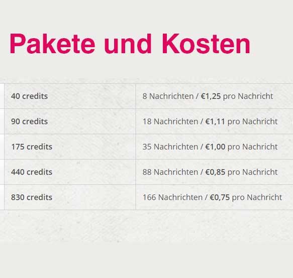 Pakete und Kosten